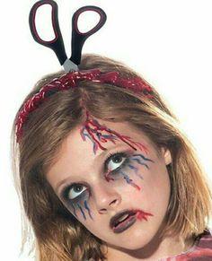Zombie cheerleader halloween pinterest zombie cheerleader zombie make up with scissors solutioingenieria Gallery