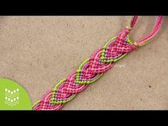 ► Friendship Bracelet Tutorial - Beginner - Alternating Leaves Pattern - YouTube