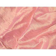 Rosy Peach Iridescent Dupioni Silk Fabric