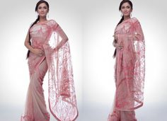 Bridal Party Wear Saree Indian-Embroidered-Sarees