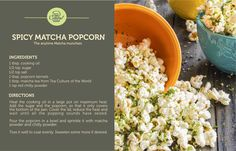 Try this at home. Your own lip smacking flavored popcorn. Quick tip, to get your Matcha just click here: http://teacultureoftheworld.com/…/our-teas/green/matcha.html  #tea #greentea #tealover #ilovetea #matcha #healthtea #teacultureoftheworld #teaculture #recipe