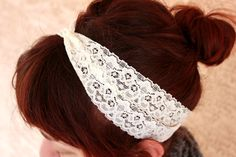 Items similar to Eggshell White Lacey Headband on Etsy Lace Headbands, Eggshell, Fashion Accessories, My Style, Hair, Etsy, Products, Egg Shell, Gadget