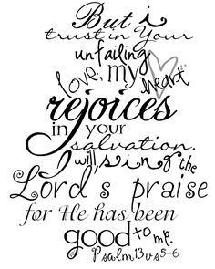 Psalm 13:5-6  Dee's Bugaboo Boutique