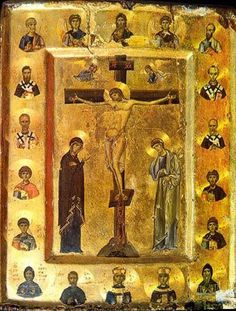 The Crucifixion - Icon in the Monastery of St. Catherine, Sinai, Egypt, 12th century
