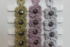 hf Crochet Bracelet Maxi Flower ❥ 4U //
