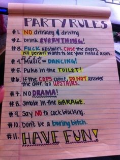 party rules...need this