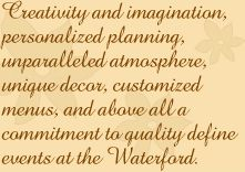 Waterford Banquets Wedding Receptions Conference Center Corporate Meeting Space Catering Elmhurst Oakbrook Chicago IL