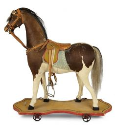 Tears for Mina - March 2018 at the Hyatt Coconut Point, Naples, FL: 210 Outstanding American Toy Wooden Riding Horse with Accessories Antique Toys, Vintage Toys, Antique Rocking Horse, Rocking Horses, Horse Accessories, Pull Toy, Old Toys, Kids Playing, Dolls