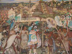 Mural de la Historia de México, por Diego Rivera, en el Palacio Nacional, Centro Histórico de la Ciudad de México