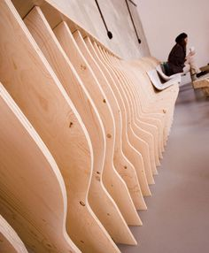 A Cafe Constructed Entirely Of Plywood Ribs Monumental Architecture, Interior Architecture, Cafe Restaurant, Restaurant Design, Bedroom Drawing, Parametric Design, Coffee Shop Design, Cafe Interior, Dezeen
