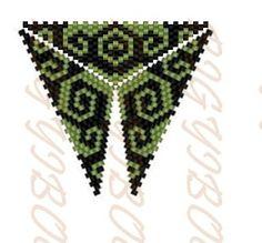 Bigyibogyó: Triángulo Peyote - verde ondulada
