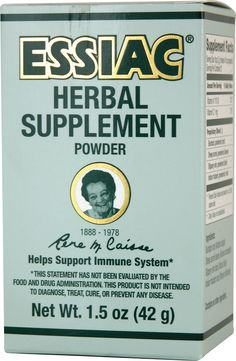 Essiac Immune System Support Powder also used as a cancer cure until the medical industry forced her out of business...because IT WORKS!