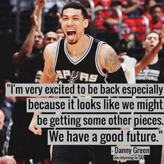 Spurs Danny Green. Go Spurs Go