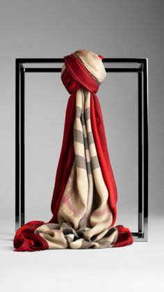 e9254318 Love this: Animal Check 140x140 Scarf @Lyst Burberry Scarf, Burberry Women,  Lightweight