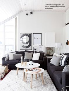 New Living Room Ideas Dark Couch Grey Ideas Living Room Paint, Living Room Grey, Living Room Modern, Rugs In Living Room, Living Room Designs, Small Living, Living Room Ideas Dark Couch, Black White And Grey Living Room, Room Rugs
