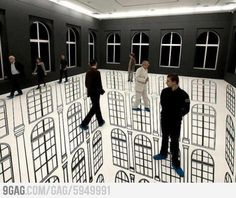 That's trippy Illusion Art by Regina Silveira 3d Street Art, Street Work, 3d Floor Painting, Instalation Art, Cool Optical Illusions, Floor Art, Contemporary Abstract Art, Painted Floors, Art Plastique