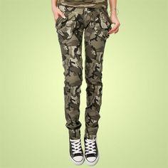 Камуфляжные брюки женские