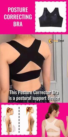 Posture Corrector Bra, Posture Bra, Fix Your Posture, Beauty Secrets, Beauty Hacks, Posture Support, Support Bra, Body Sculpting, Back Pain