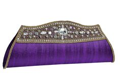purple wedding clutch