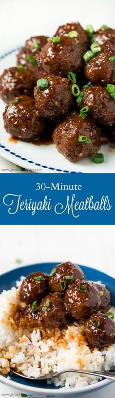 Party it up this holiday season and celebrate Chrismukkah with these simple, tender and juicy 30 Minute Teriyaki Meatballs! #unlocktheawesome #ad @soyvay