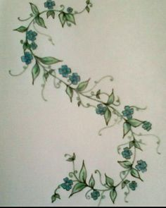 vine forget me nots tattoo - Google Search