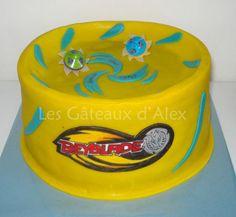 beyblade cake kids party
