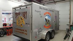 FASTSIGNS of Menomonee Falls applied graphics to a trailer, for Boy Scout Troop #1987. Check us out at fastsigns.com/452, call us at #262-253-0799, email us at 452@fastsigns.com, or come visit us at W173N9170 St. Francis Drive, Suite 1, Menomonee Falls, WI 53051