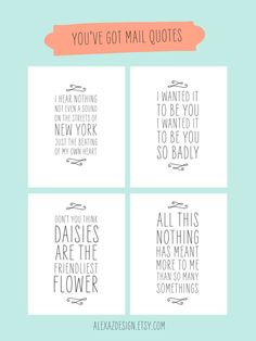 You've Got Mail Quotes Printable Pacakge by alexazdesign