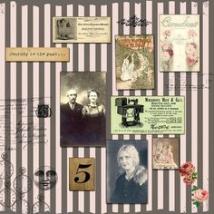 **FREE ViNTaGE DiGiTaL STaMPS**: Free Digital Scrapbook Paper - Vintage Collage