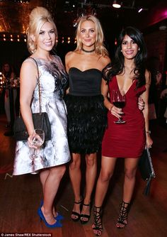 In good company: Jasmin was seen mingling with fellow reality stars Frankie Essex and Stephanie Pratt