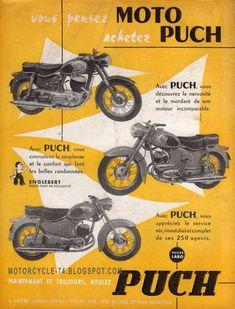 Bike Poster, Motorcycle Posters, Motorcycle Design, Vintage Cycles, Vintage Bikes, Vintage Cars, Retro Bikes, Steyr, Classic Motors