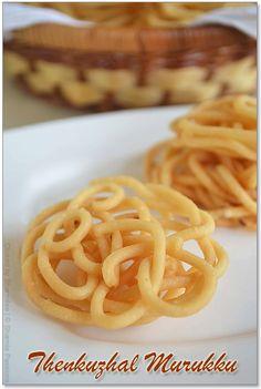 Thenkuzhal Murukku - Easy Thenkuzhal Recipe - My WordPress Website Dry Snacks, Savory Snacks, Snack Recipes, Cooking Recipes, Tasty Snacks, Cooking Games, Rice Recipes, Cooking Tips, Indian Appetizers