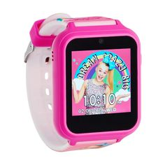 Featuring fun JoJo Siwa designs, pre-loaded games and ten cool watch faces to choose from, this kids' interactive smart watch will keep your little one busy for hours of fun playtime. Best Kids Watches, Cool Watches, Ladies Watches, Jojo Siwa, Big Girl Toys, Toys For Girls, Box Water, Voice Recorder, Jojo Bows