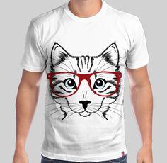 Camisa Gato de Óculos - Só na The Shirt Camiseteria  Camisa  GatoDeOculos   Cat  Glass  TShirt ff48279b8a