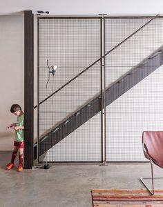 Baumann residence concrete floor and steel beams
