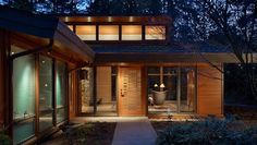 Finne Architect's renovation of a Seattle-area 1950's Contemporary home. Images: Benjamin Benschneidervia Contemporist.
