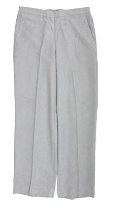 7e1120bf21 Alfred Dunner Northern Lights Flat Front Pants Silver S *** Be sure to  check out this awesome product. Ladies' Fashion Clothing