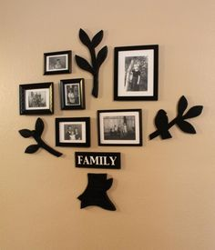 Family Tree Frames For Wall wall decal , family tree wall decal -living room wall decals
