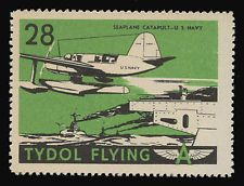 """TYDOL FLYING """"A"""" POSTER STAMPS OF 1940 - #28, SEAPLANE CATAPULT - U.S. NAVY"""