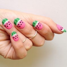I am actually having the best Monday ever - I love Monday this week. For this #manimonday I'm posting about the watermelon tutorial I did for @shaym and @michaelablaney new and improved lifestyle blog @amoreandvita !! Learn how to get this look on amoreandvita.com now ! So cute and easy to diy! #stephstonenails #amoreandvita
