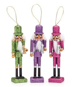Another great find on #zulily! Nutcracker Ornament - Set of Three #zulilyfinds