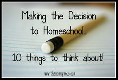 Considering homeschool? 10 things to think about.