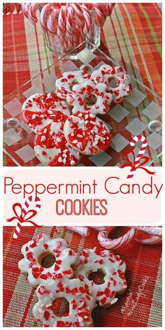 Peppermint Candy Cookies are a festive cookie for Christmas cookie exchanges. #Peppermint #cookies #cookieexchange @wineladyjo