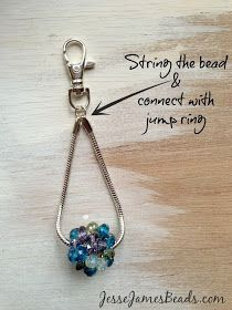 Jesse James Beads: How to Make a Beaded Key Chain
