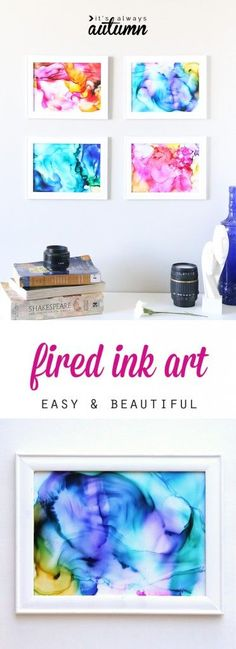 nice fired ink art | easy craft for kids & adults - It's Always Autumn