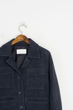 Olive - Suede Two Pocket Jacket, Charcoal, £259.00 (http://www.oliveclothing.com/p-oliveunique-20160824-004-chacoal-suede-two-pocket-jacket-charcoal)