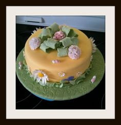 4th cake I ever decorated this was done in the Wilton course 3 and doubled as my Birthday cake :)