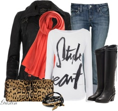 """animal and red"" by stacy-gustin on Polyvore"