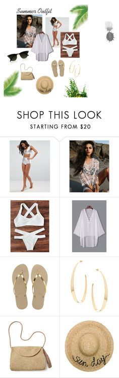 A fashion look from August 2017 featuring lace swim cover up, metallic bikini top and white two piece. Browse and shop related looks. Swim Cover, Cover Up, White Two Piece, Eugenia Kim, Billabong, Bikini Tops, Summer Outfits, Fashion Looks, Lace