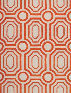 Orange pattern inspiration from the CORT Signature Collection 2013
